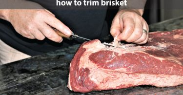 How to trim brisket